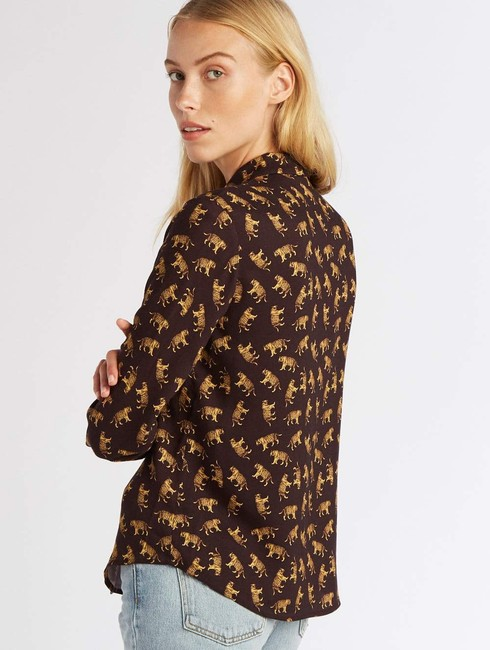 Emerson Fry Chic Animal Print Top Tigers Image 1