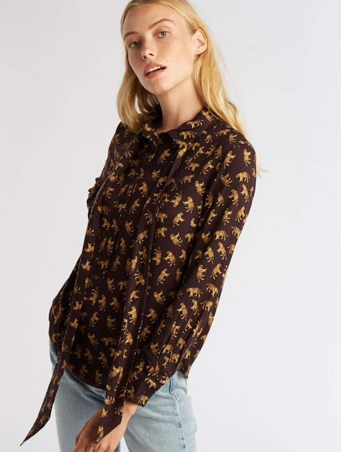 Emerson Fry Chic Animal Print Top Tigers Image 2