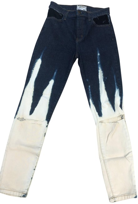 Preload https://img-static.tradesy.com/item/25047891/currentelliott-denim-blue-and-cream-tie-dye-dark-rinse-skinny-jeans-size-27-4-s-0-1-650-650.jpg