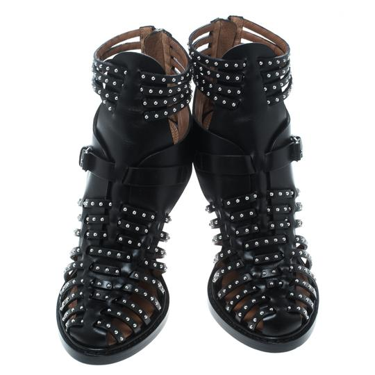 Givenchy Leather Studded Black Sandals Image 2