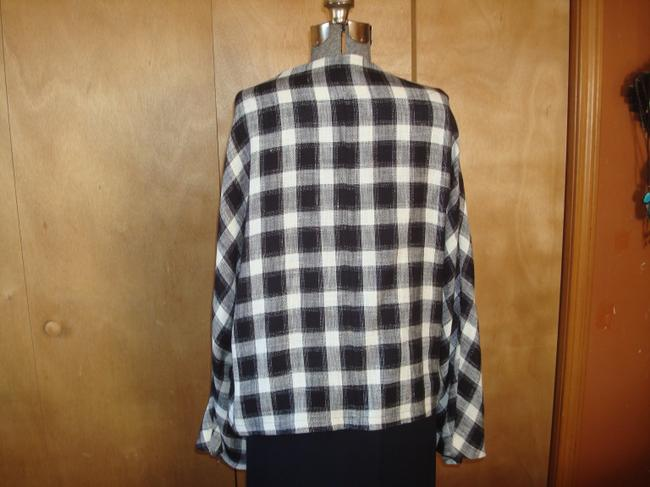 Jerry Giardelli Line black and white check Jacket Image 2