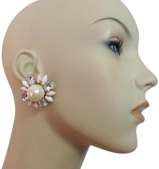 Preload https://img-static.tradesy.com/item/25047932/scaasi-pink-white-gray-new-flower-clip-pearl-statement-signed-earrings-0-2-540-540.jpg
