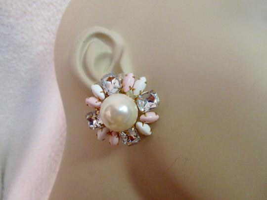 Scaasi New Flower Clip Pearl Statement Signed Image 10