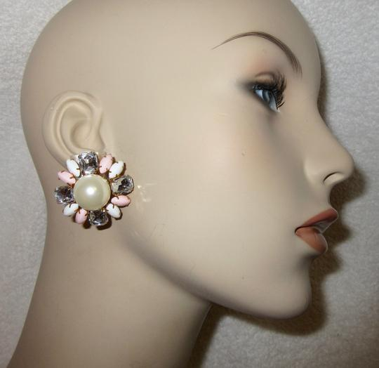 Scaasi New Flower Clip Pearl Statement Signed Image 11