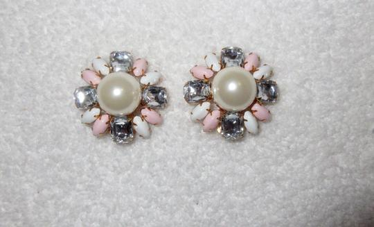 Scaasi New Flower Clip Pearl Statement Signed Image 2