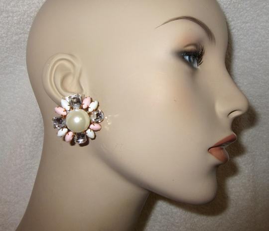 Scaasi New Flower Clip Pearl Statement Signed Image 3