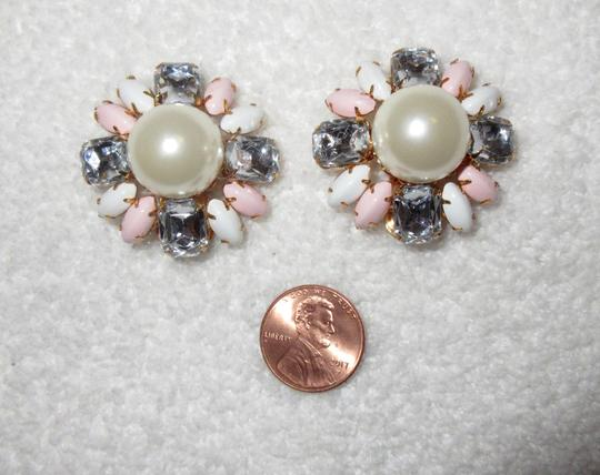 Scaasi New Flower Clip Pearl Statement Signed Image 4