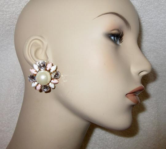 Scaasi New Flower Clip Pearl Statement Signed Image 7