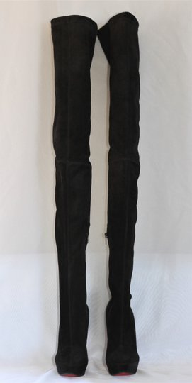 Christian Louboutin Thigh High Over The Knee Black Boots Image 3