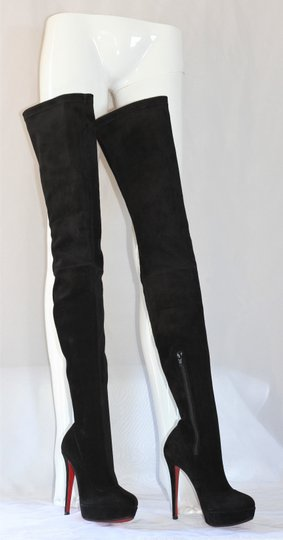 Christian Louboutin Thigh High Over The Knee Black Boots Image 4