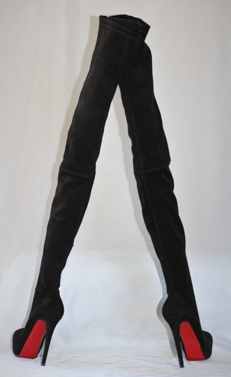 Christian Louboutin Thigh High Over The Knee Black Boots Image 5
