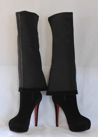 Christian Louboutin Thigh High Over The Knee Black Boots Image 9