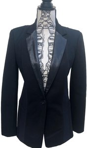 DKNY Lambskin Mesh Fitted Black/Navy blue Blazer