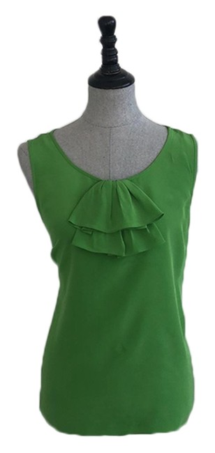 Preload https://img-static.tradesy.com/item/25048122/kate-spade-kelly-green-silk-sleeveless-blouse-size-8-m-0-1-650-650.jpg