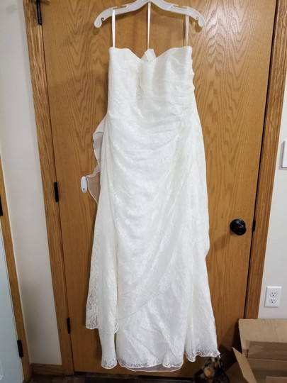 Preload https://img-static.tradesy.com/item/25048230/david-s-bridal-ivory-polyester-allover-lace-a-line-strapless-modest-wedding-dress-size-16-xl-plus-0x-0-0-540-540.jpg