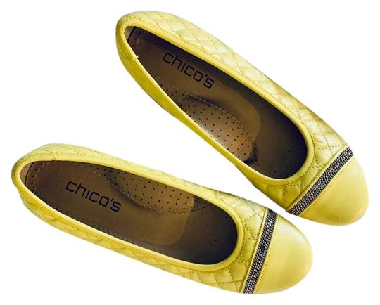 Preload https://img-static.tradesy.com/item/25048501/chico-s-yellow-spice-ballet-flats-size-us-85-regular-m-b-0-1-540-540.jpg