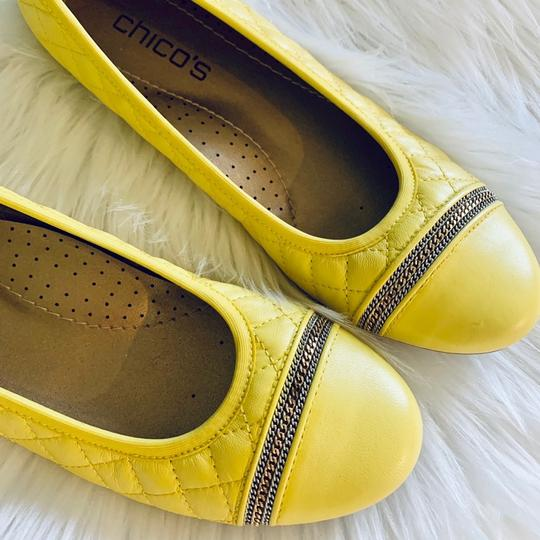 Chico's yellow Flats Image 1