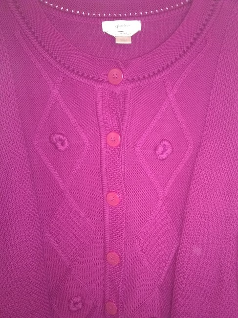 Item - Button Front Pink/Purple Sweater