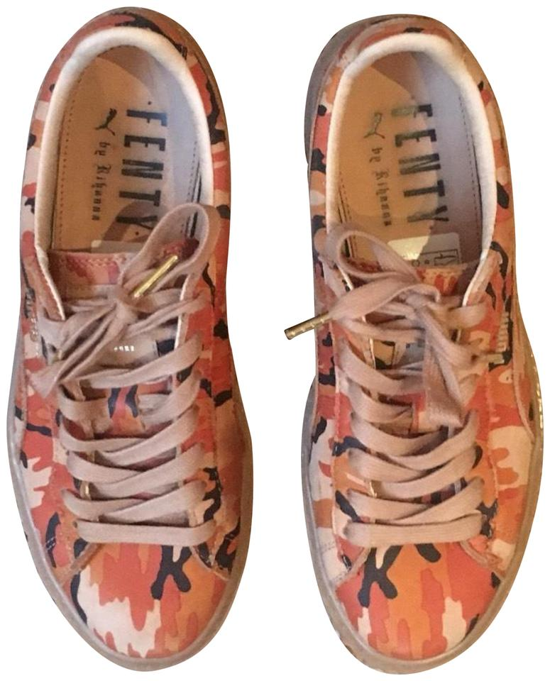 low priced 92e77 0cab9 FENTY PUMA by Rihanna Camo - Orange/Oatmeal Suede Creepers Sneakers Size US  8.5 Regular (M, B) 46% off retail