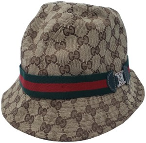 77858e11 Gucci Brown multicolor Gucci Guccissima web bucket hat L sz