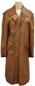 Pierre Cardin 80's Leather Imported Vintage Trench Coat