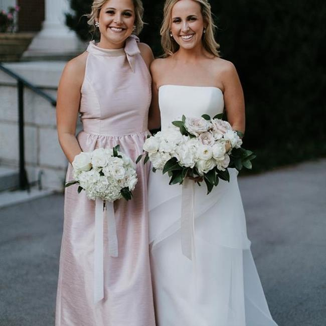 Item - Pearl Pink Polyester D533 Traditional Bridesmaid/Mob Dress Size 6 (S)