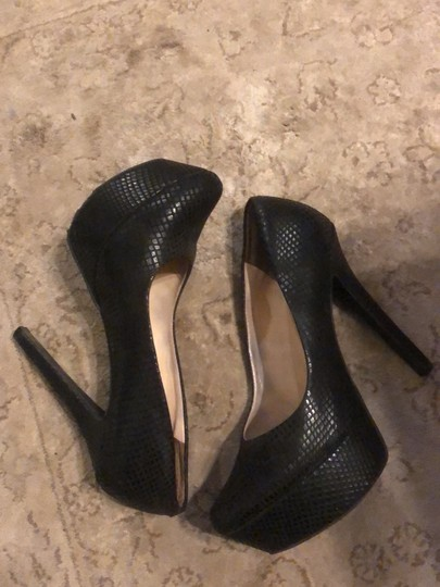 Jessica Simpson black Platforms Image 4