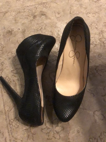 Jessica Simpson black Platforms Image 5