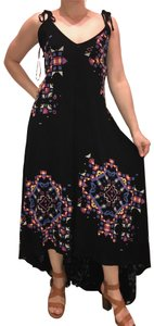 Black Purple Yellow Blue Pink Maxi Dress by French Connection