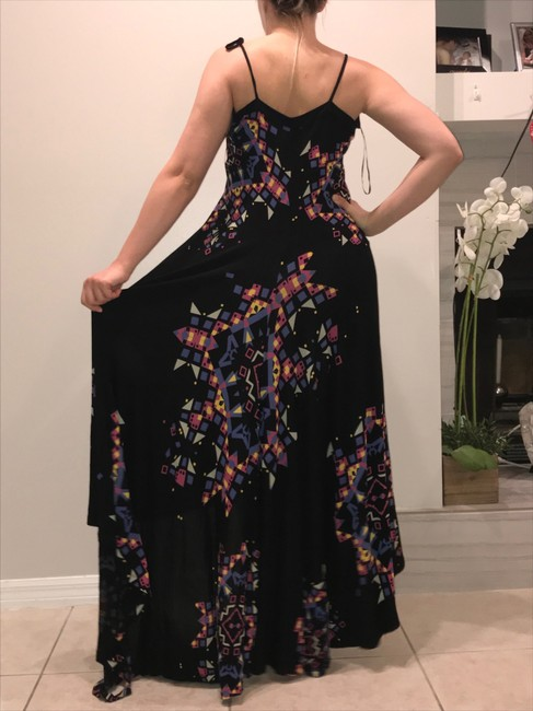 Black Purple Yellow Blue Pink Maxi Dress by French Connection Image 11