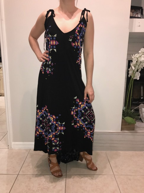 Black Purple Yellow Blue Pink Maxi Dress by French Connection Image 2
