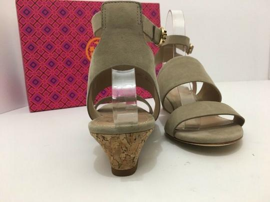 Tory Burch Suede Wedge Size 7 Tan Sandals Image 1