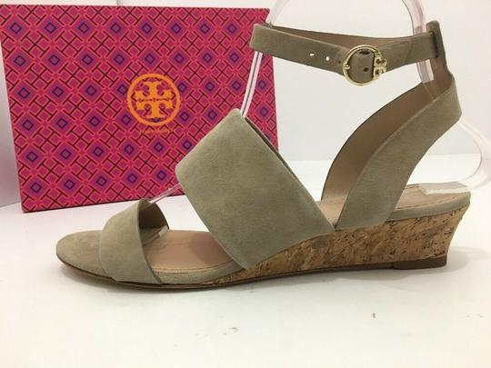 Tory Burch Suede Wedge Size 7 Tan Sandals Image 2