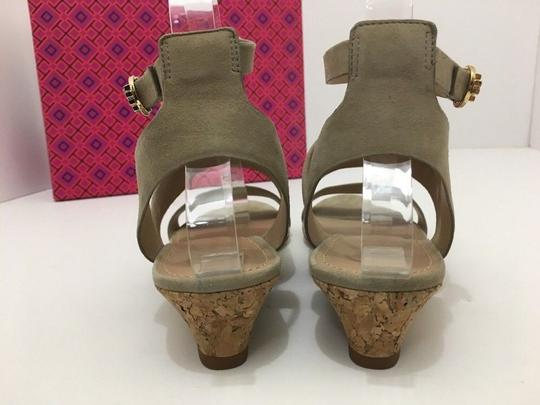Tory Burch Suede Wedge Size 7 Tan Sandals Image 4