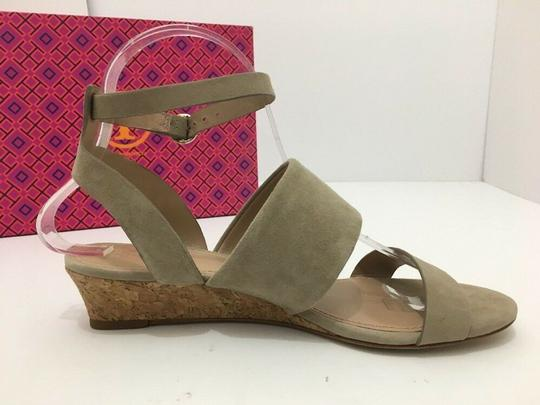 Tory Burch Suede Wedge Size 7 Tan Sandals Image 5