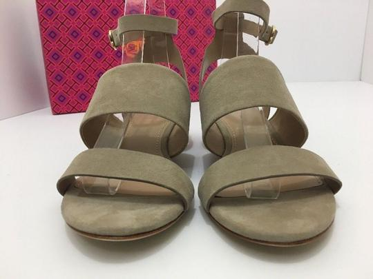 Tory Burch Suede Wedge Size 7 Tan Sandals Image 6