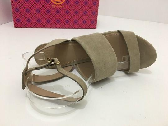 Tory Burch Suede Wedge Size 7 Tan Sandals Image 7