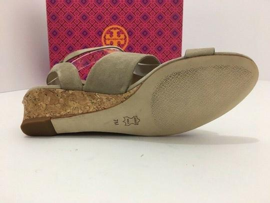 Tory Burch Suede Wedge Size 7 Tan Sandals Image 8