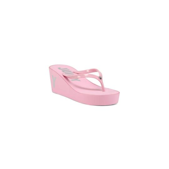 Juicy Couture Slip On Thong Toe Man Made Pink Sandals Image 1