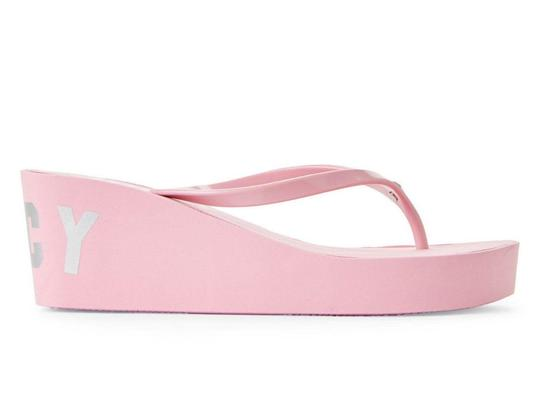 Juicy Couture Slip On Thong Toe Man Made Pink Sandals Image 2