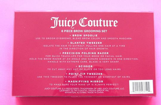 Juicy Couture 6pc Brow Grooming Mirror Tool Gift Set Image 2