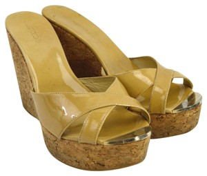 Jimmy Choo Fall Luxury Night Out Spring Summer TAN Wedges