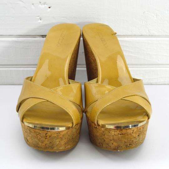 Jimmy Choo Fall Luxury Night Out Spring Summer TAN Wedges Image 1