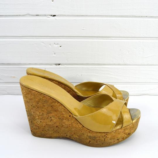 Jimmy Choo Fall Luxury Night Out Spring Summer TAN Wedges Image 2