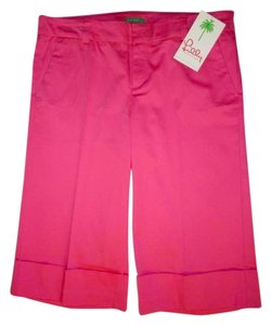 Lilly Pulitzer Stretch Stretchy Flat Front Cotton Dress Shorts Pink
