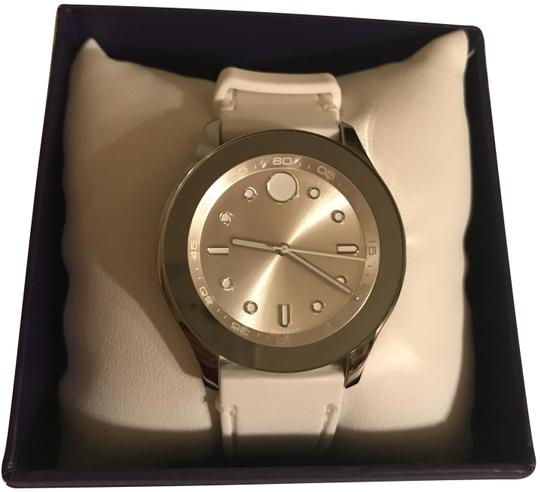 Preload https://img-static.tradesy.com/item/25049832/movado-white-silicon-bold-silver-watch-0-1-540-540.jpg