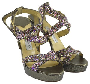 Jimmy Choo Fall Luxury Spring Night Out Date Night SILVER/ PURPLE/ RED/ GREEN Platforms