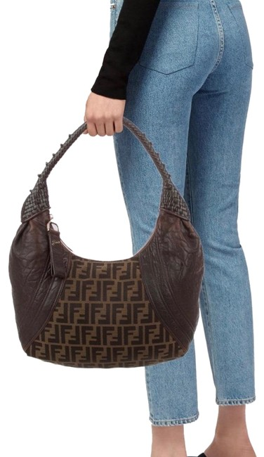 Item - Zucca Spy Brown Lambskin Leather Hobo Bag