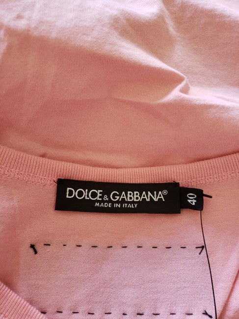 Dolce&Gabbana Logo Monogram Floral Sleeveless All The Lovers T Shirt Pink Image 10