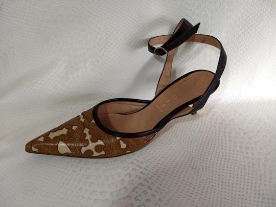 Casadei Brown and Ivory Pumps Image 4